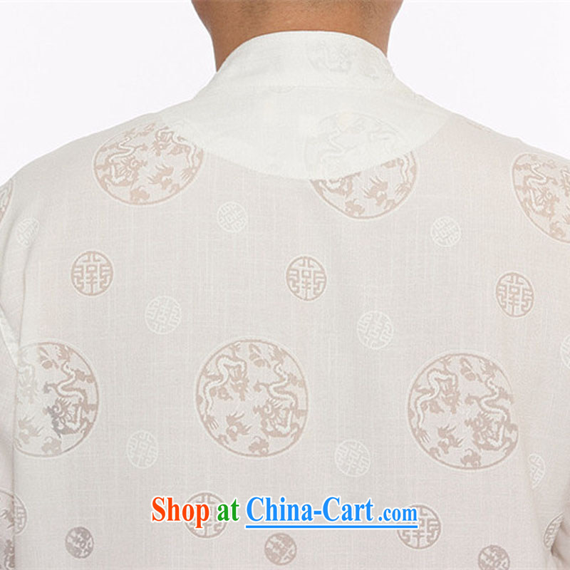 The Luo, middle-aged men the snap-han-middle-aged and older Chinese men and a short-sleeved shirt Chinese elderly grandparents morning exercise clothing summer white XXXL, the Tony Blair (AICAROLINA), online shopping