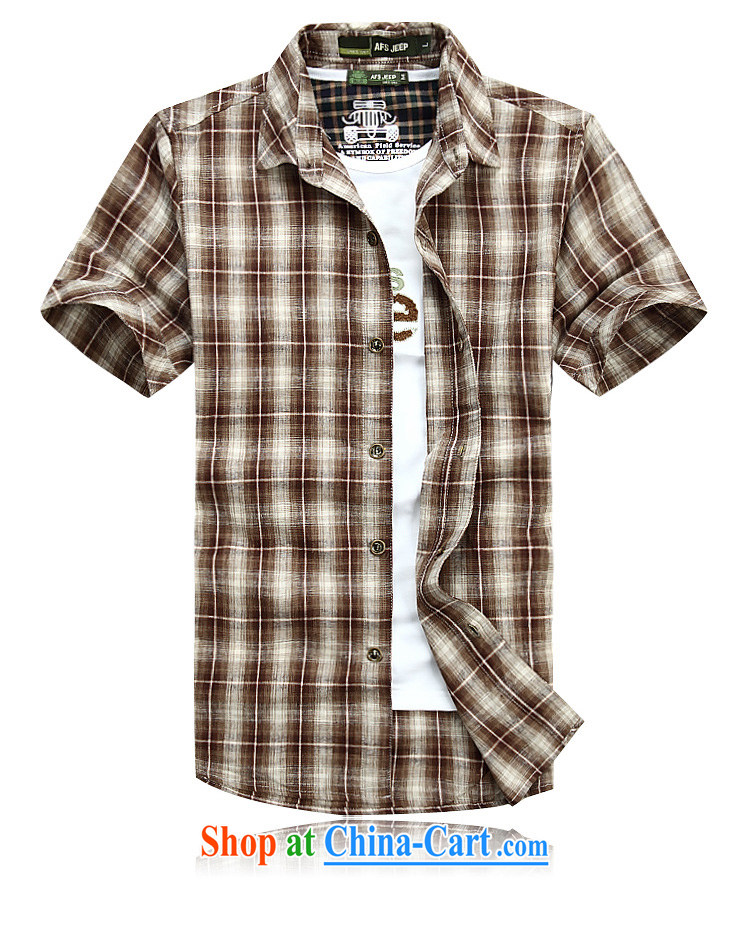Jeep shield Chinese men and lapel shirt frock checked short-sleeved men's snap-T-shirt youth business and leisure cotton plaid short-sleeved shirt 6835 red XXXL pictures, price, brand platters! Elections are good character, the national distribution, so why buy now enjoy more preferential! Health