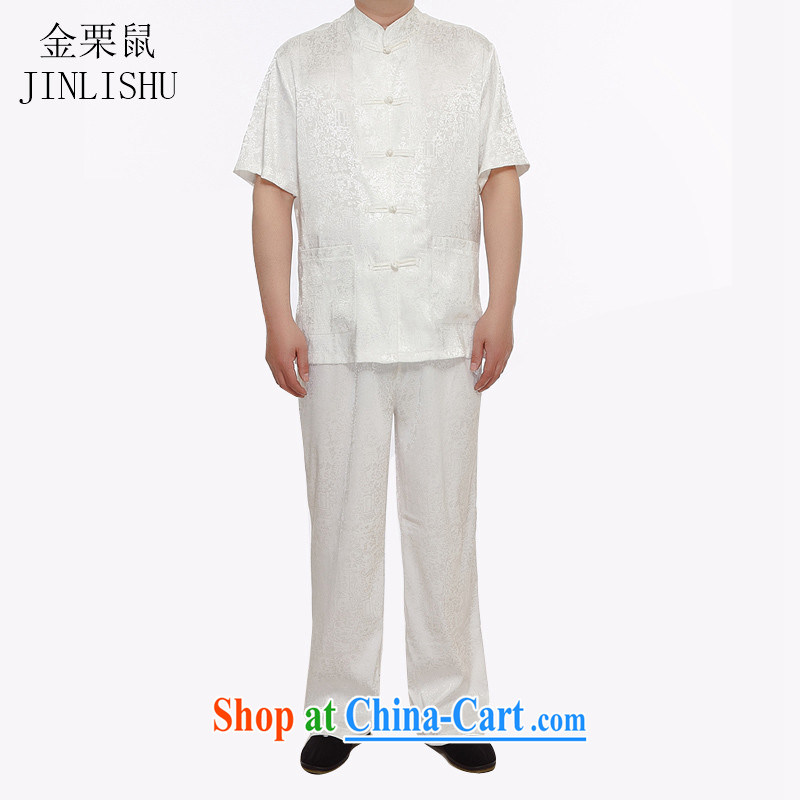 The chestnut mouse male summer the River During the Qingming Festival short-sleeved Chinese, for Chinese Package white XXXL