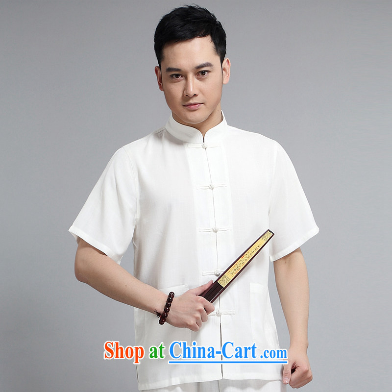 Men's 2015 new paragraph for the Tang is included in the kit older casual father replace morning Tai Chi practice serving China wind, short-sleeved Tang replace 1509 gray package 190 XXXXL, Van Gogh (MUFONCE), online shopping