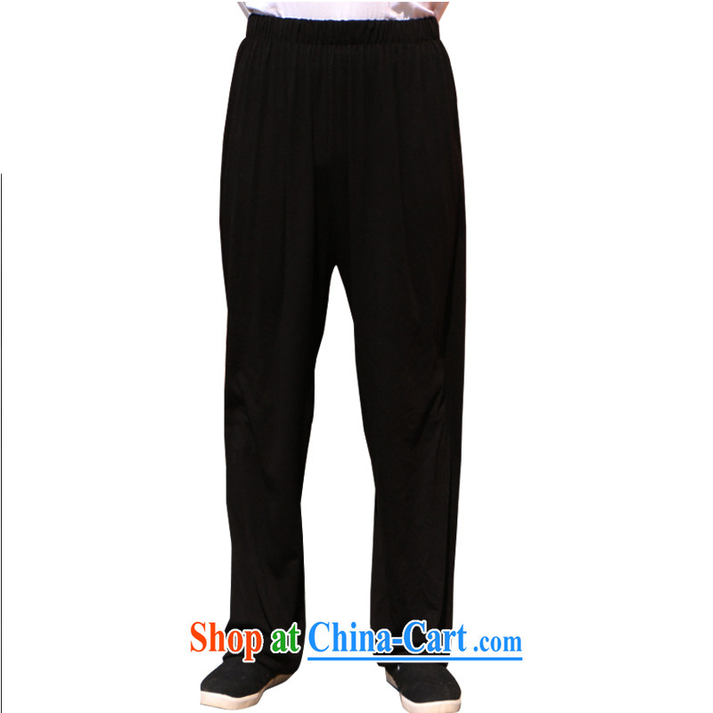 Her cabinet this new summer聽, older men's relaxed and comfortable father larger lanterns pants jogging trousers elasticated waist high cotton the breathable ethnic wind black are code