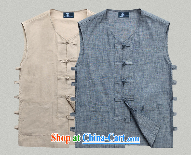 Jack And Jacob - Wolf JIEYA - WOLF New Tang replace short-sleeve men's vest vest summer, advanced solid-colored fabrics and stylish casual men's denim Blue solid color 185/XXL pictures, price, brand platters! Elections are good character, the national distribution, so why buy now enjoy more preferential! Health