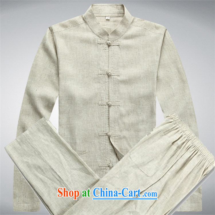The Spring and Autumn Period, Chinese Tang discs for middle-aged men Tang load package and long-sleeved T-shirt beige Kit XXXL pictures, price, brand platters! Elections are good character, the national distribution, so why buy now enjoy more preferential! Health