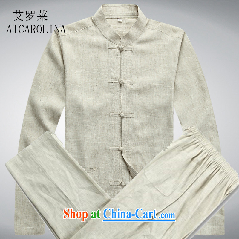 The Spring and Autumn Period, Chinese Tang on the charge-back middle-aged men Tang package with the long-sleeved T-shirt beige Kit XXXL, AIDS, Tony Blair (AICAROLINA), online shopping