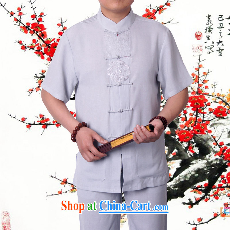Factory outlets, Mr Rafael HUI Ying, 15 summer's father is Chinese, for men and short-sleeved Tang Single Part/Package China wind men's summer burglary to package the beige 190, the British Mr Rafael Hui (sureyou), shopping on the Internet
