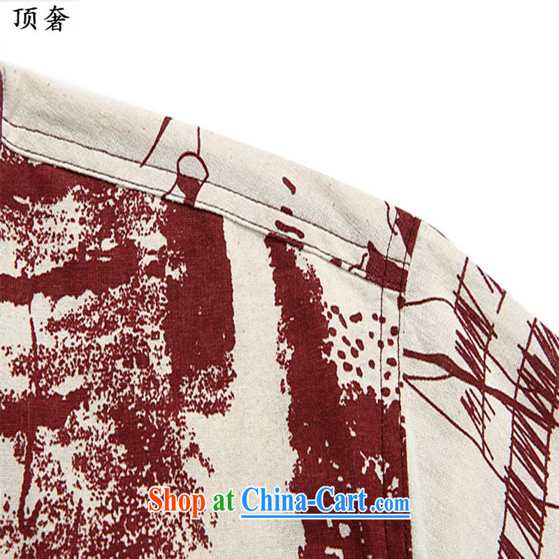 Top Luxury 2015 New China wind men's young Chinese men and a short-sleeved summer cotton shirt the shirt cultivating Chinese men's national costume for the 6013 190 and the top luxury, shopping on the Internet