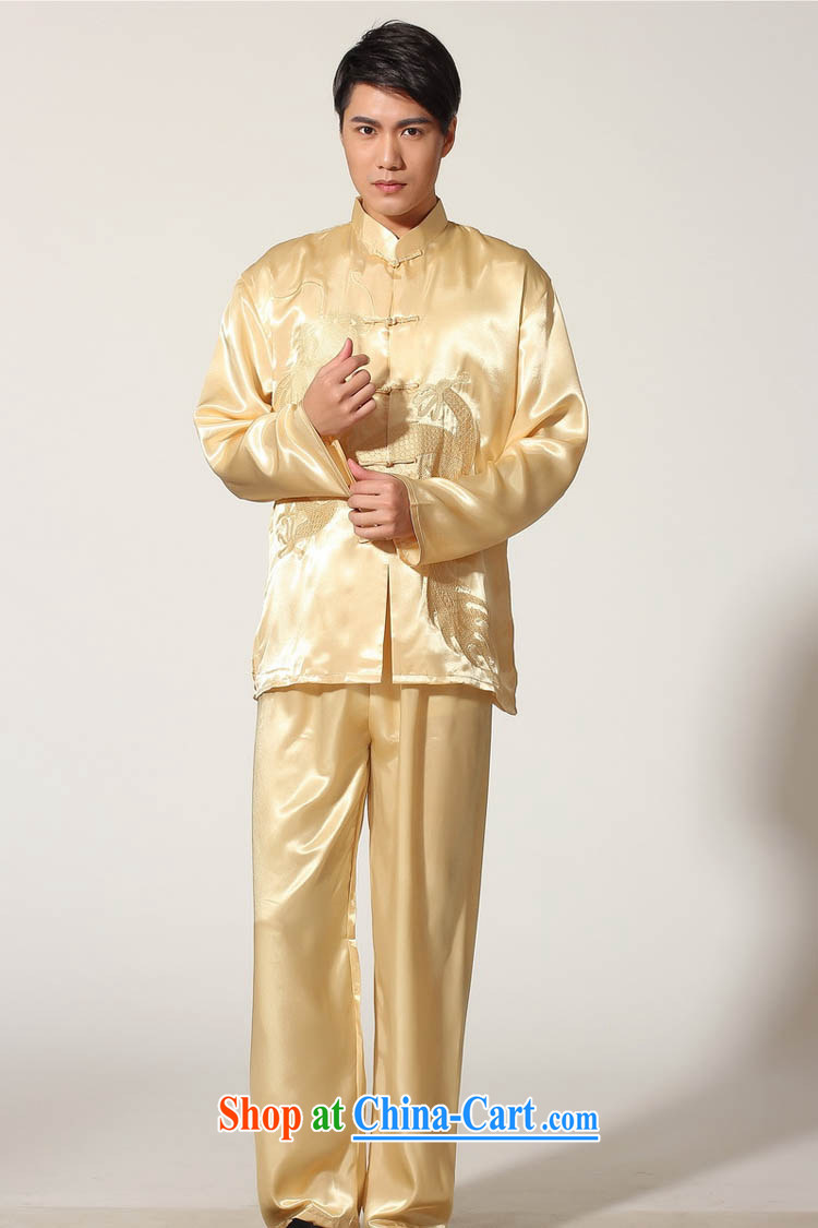 Ko Yo vines into exciting and 2015 New Men's Chinese Embroidery Dragon deck with damask Chinese Tai Chi Kit Tang replace the collar long-sleeved T-shirt kung fu two kits and loading M M 0014 0012 XXL pictures, price, brand platters! Elections are good character, the national distribution, so why buy now enjoy more preferential! Health