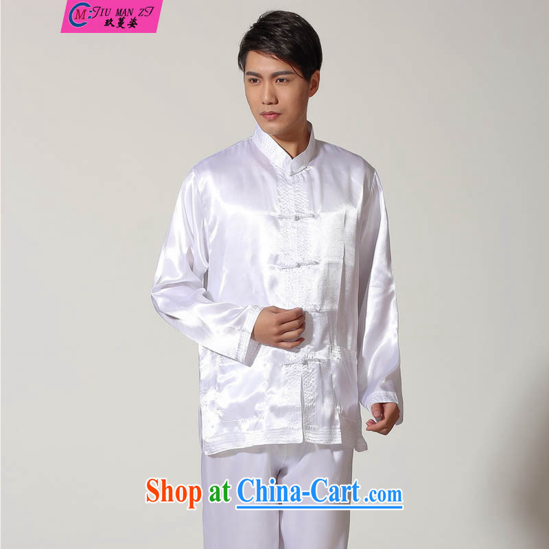 Ko Yo vines into colorful 2015 Tai Chi clothing ancient, for long-sleeved T-shirt kung fu set damask New Men Tang is a solid color kit Chinese classical male M M 3010 3013 XXL