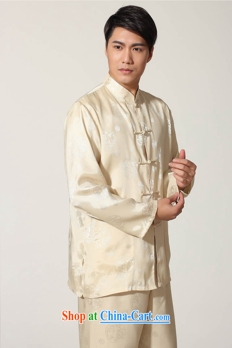 Ko Yo vines into exciting and 2015 New Men Tang is a solid color kit Chinese leisure men and Tai Chi clothing ancient, for long-sleeved T-shirt kung fu set damask M M 0050 0050 - D XXXL pictures, price, brand platters! Elections are good character, the national distribution, so why buy now enjoy more preferential! Health