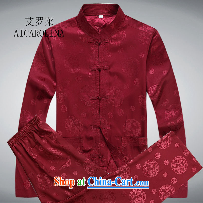The Carolina boys 2015 New China wind long-sleeved middle-aged men Tang is the long-sleeved Chinese package red package XXXL