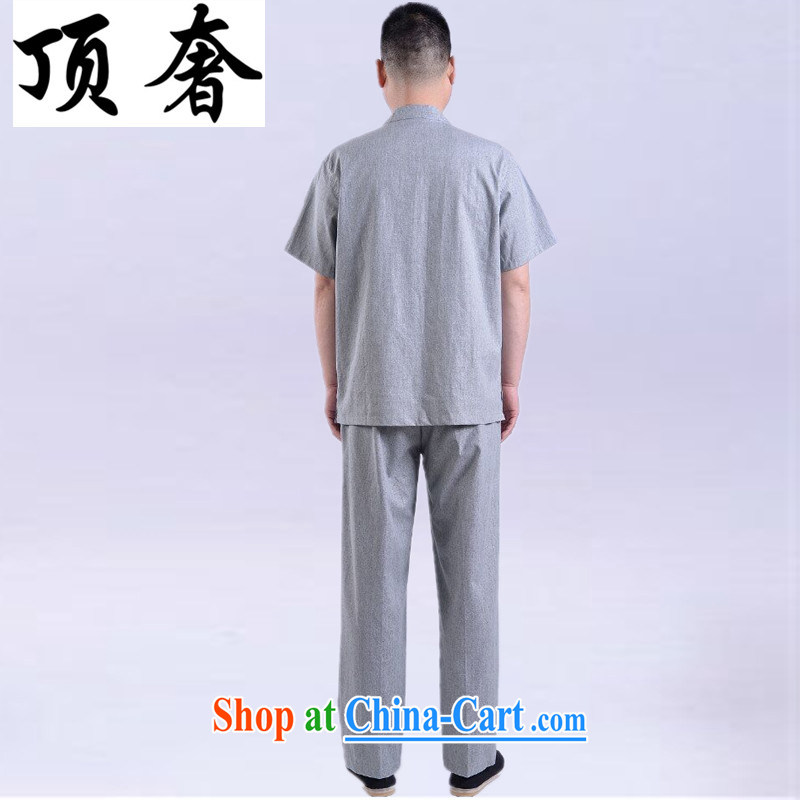 The top luxury summer 2015 new men and Chinese cotton mA short-sleeved pants men and a short-sleeved, older units the leisure suite beige Chinese Tang package loaded male Han-gray, package 165, and with the top luxury, shopping on the Internet