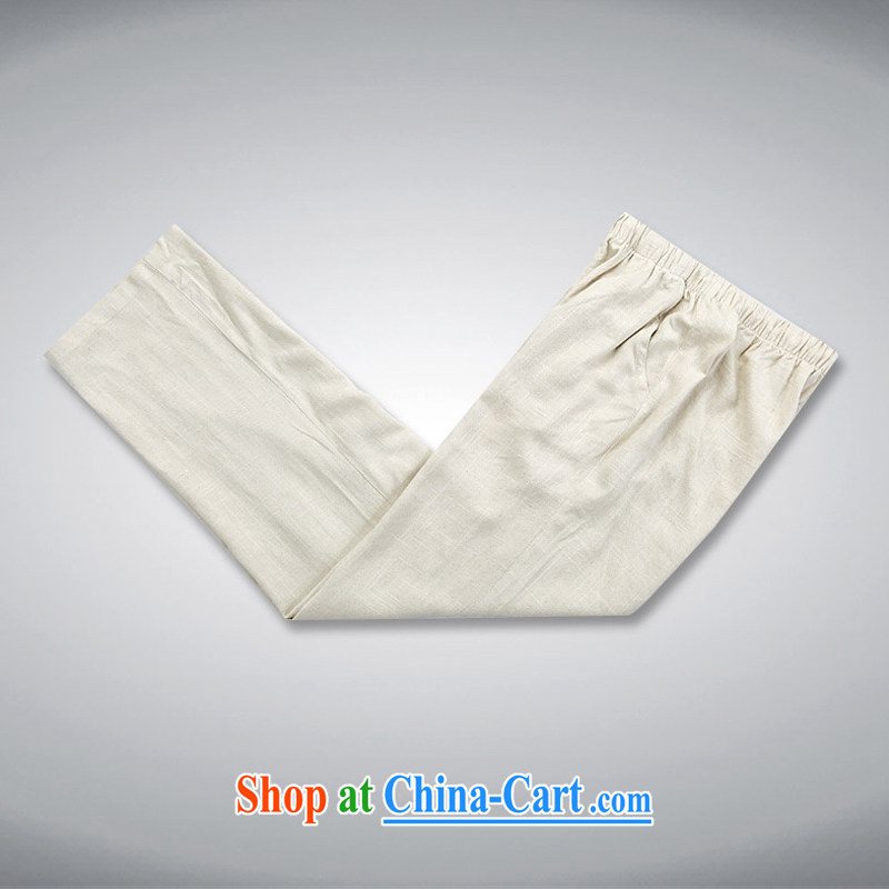 new, genuine ethnic wind in the kit men's cotton mA short-sleeve kit, older men's summer Chinese, manually for the buckle half sleeve the father Tang with beige XXXL/190, and mobile phone line (gesaxing), and, on-line shopping