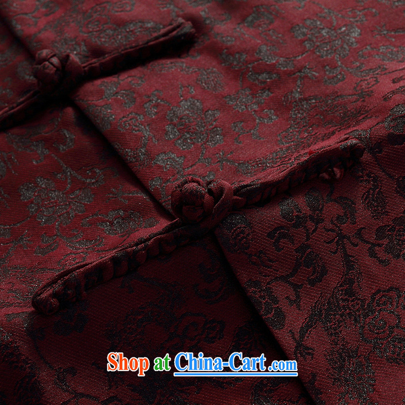 Chinese men and a short-sleeved T-shirt in summer, and Tang on the Shannon cloud yarn is silk, old Tang is short-sleeved father replace D 509 red M, JACK EVIS, shopping on the Internet