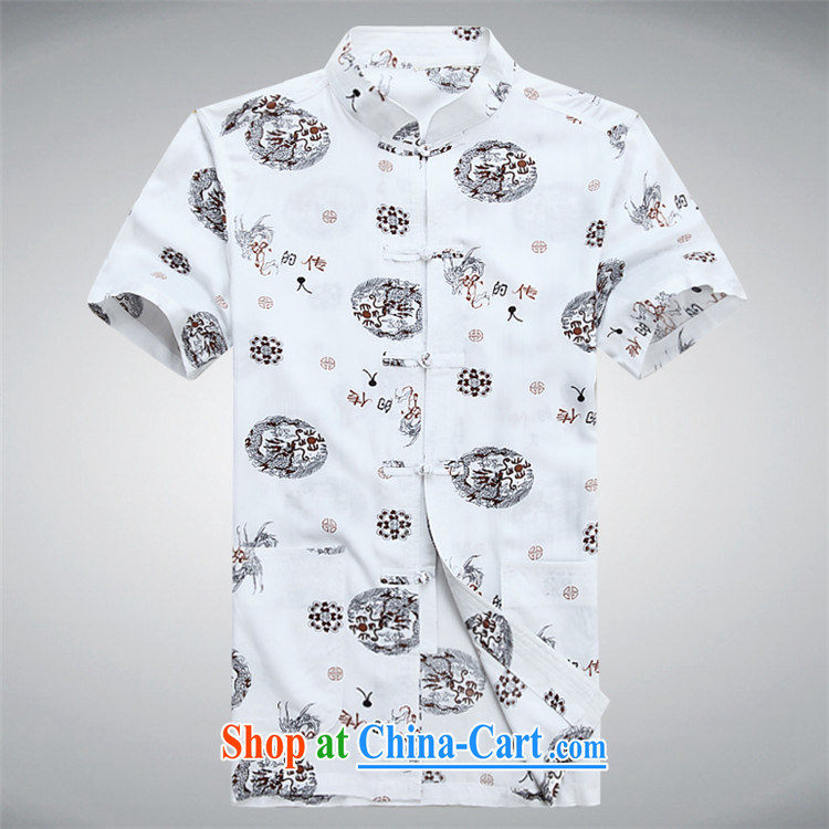 The chestnut mouse summer men's short-sleeved Tang replace summer T-shirt, older men with short blue XXXL pictures, price, brand platters! Elections are good character, the national distribution, so why buy now enjoy more preferential! Health