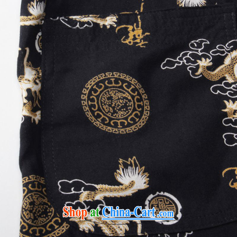 ground floor is still building 2015 new middle-aged and older men's short-sleeved Chinese father with cotton leisure China wind men's short-sleeved Tang red 185, the property is still property, shopping on the Internet