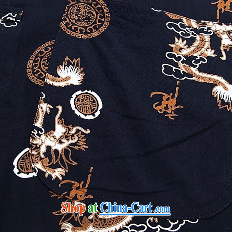 The Beijing Summer tang on short-sleeved men's youth, older short-sleeved shirt men's stylish casual half sleeve shirt white XXXL, Beijing (JOE OOH), shopping on the Internet