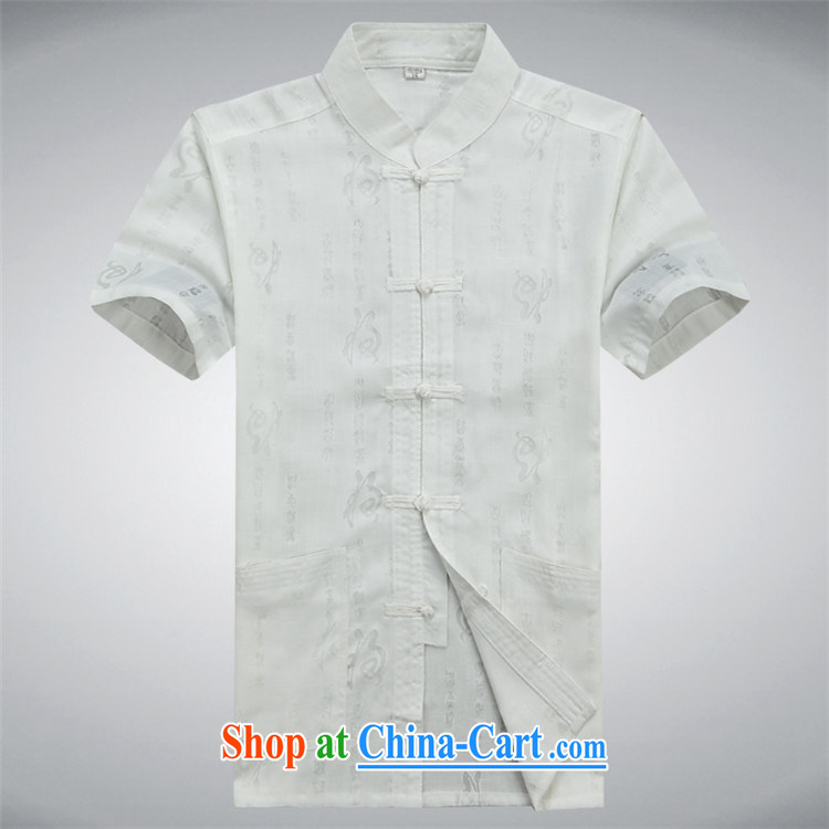 The new Prime Minister Blair, linen Chinese men and a short-sleeved Summer Package Chinese leisure large numbers of field load Tang Yau Ma Tei Cotton Men's T-shirt white Chinese XXXL pictures, price, brand platters! Elections are good character, the national distribution, so why buy now enjoy more preferential! Health