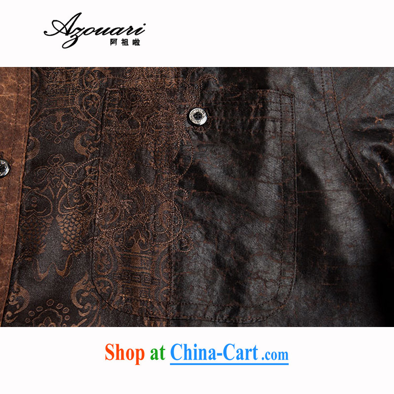 The TSU defense (Azouari) Men's Chinese short-sleeve fragrant cloud yarn Chinese men's retro, JP for coffee 52, Cho's (AZOUARI), and, on-line shopping