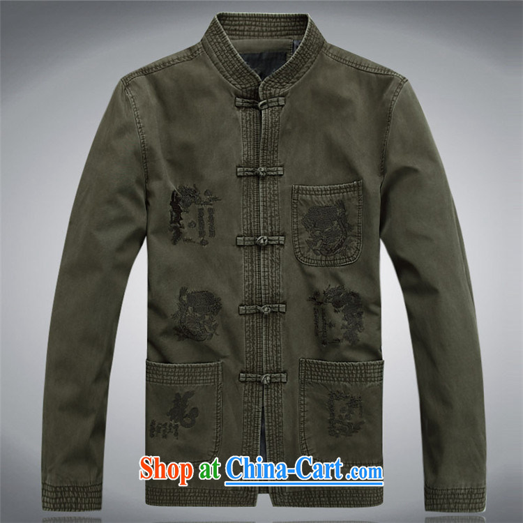 The chestnut mouse spring and summer men Tang in older Chinese men and older persons Tang long-sleeved jacket and dark green XXXL pictures, price, brand platters! Elections are good character, the national distribution, so why buy now enjoy more preferential! Health