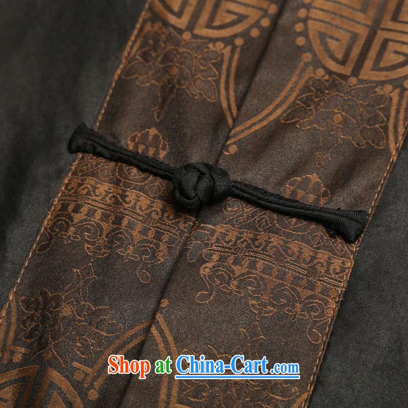 Internationally renowned men's Silk short-sleeved Chinese male Chinese shirt sauna silk shirt incense cloud yarn men's short-sleeved short black-185, internationally renowned (CHIYU), online shopping