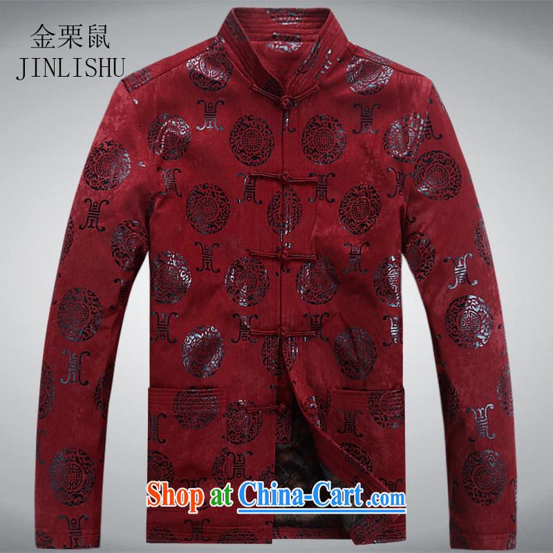 The chestnut mouse spring men's Chinese jacket, older, for men's spring, T-shirt ethnic Chinese jacket Uhlans on XXXL