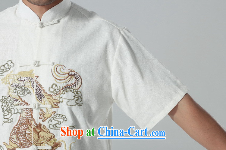 Find Sophie summer New Men's short-sleeved Chinese Chinese, for the flap embroidered dragon cotton Ma Tai Chi uniforms men's kit kit 3 XL pictures, price, brand platters! Elections are good character, the national distribution, so why buy now enjoy more preferential! Health
