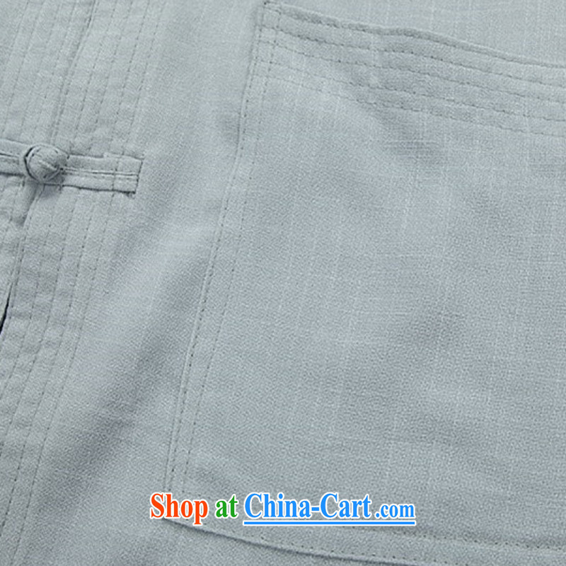 Kim Jong-il chestnut mouse spring linen men Chinese men's long-sleeved Kit older persons in Chinese Grandpa summer beige Kit XXXL, the chestnut mouse (JINLISHU), shopping on the Internet