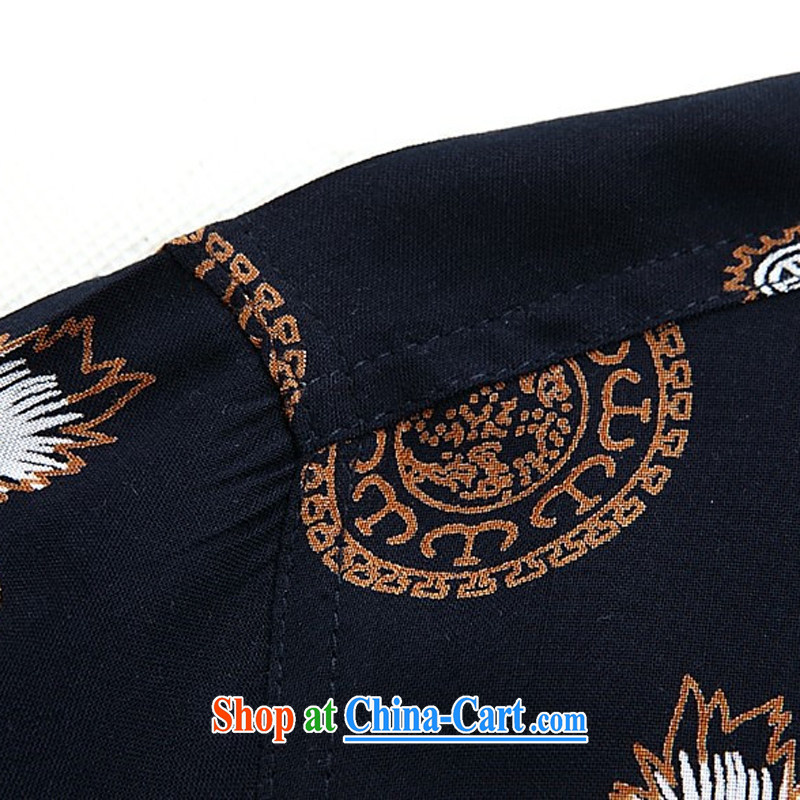 The chestnut mouse summer men's short-sleeved Tang replace summer T-shirt middle-aged and older men and the Tibetan blue XXXL, the chestnut mouse (JINLISHU), online shopping