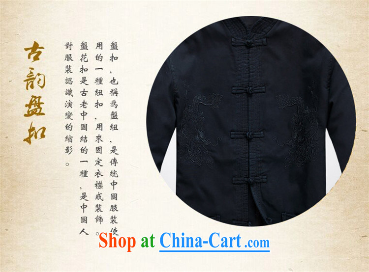 The law in the spring loaded Tang men's long-sleeved dress men's Chinese father with dark gray XXXL pictures, price, brand platters! Elections are good character, the national distribution, so why buy now enjoy more preferential! Health