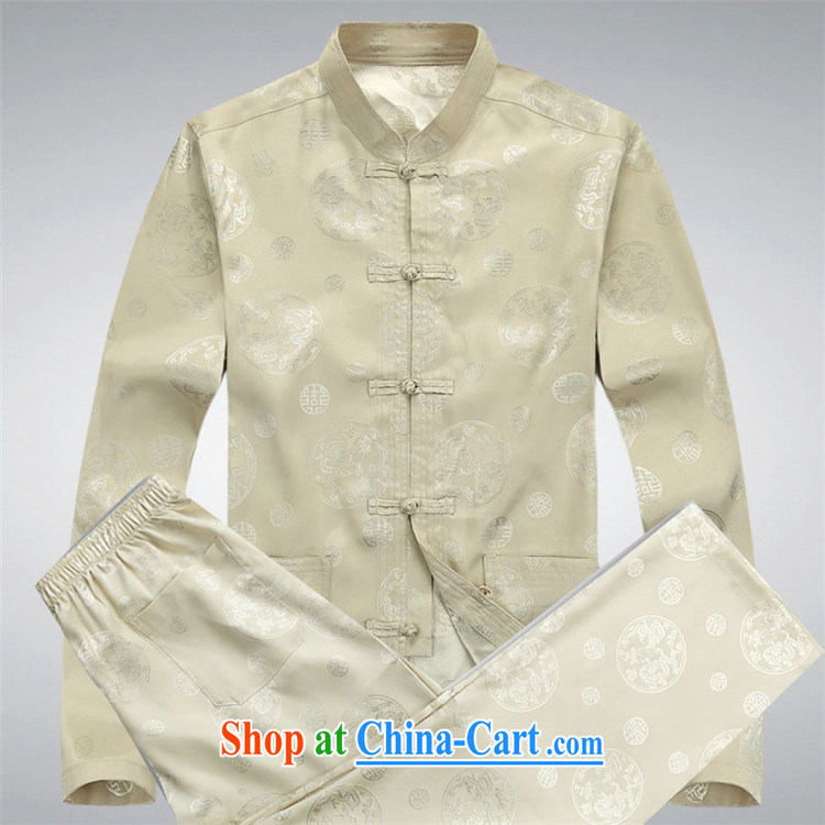 The Spring and Autumn Period, new, older long-sleeved Chinese package men, for Chinese father with Chinese beige Kit XXXL pictures, price, brand platters! Elections are good character, the national distribution, so why buy now enjoy more preferential! Health