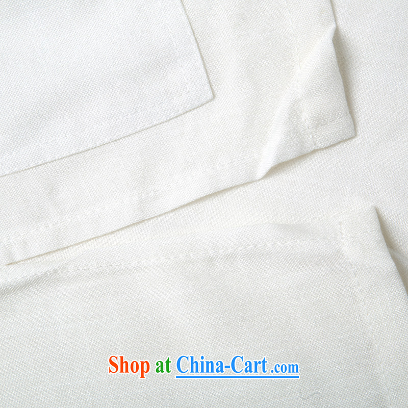 Summer is for new, older linen men's Chinese Dragon Chinese short-sleeved Chinese older persons the Commission cotton short-sleeved T-shirt ethnic wind Chinese dragon short-sleeved T-shirt beige M/170, and mobile phone line (gesaxing), and, on-line shoppi