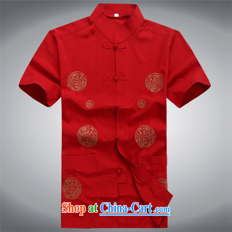 Kim Jong-il chestnut Mouse middle-aged and older men's short-sleeved Chinese package men's summer, Chinese national costumes With Grandpa red XXXL pictures, price, brand platters! Elections are good character, the national distribution, so why buy now enjoy more preferential! Health