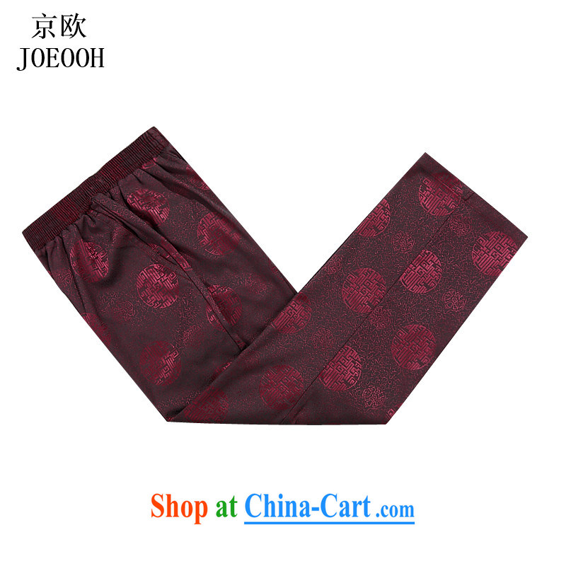 The Beijing New China wind�00 Jubilee thick Elastic waist short pants has been the men's pants and comfortable red 4 XL