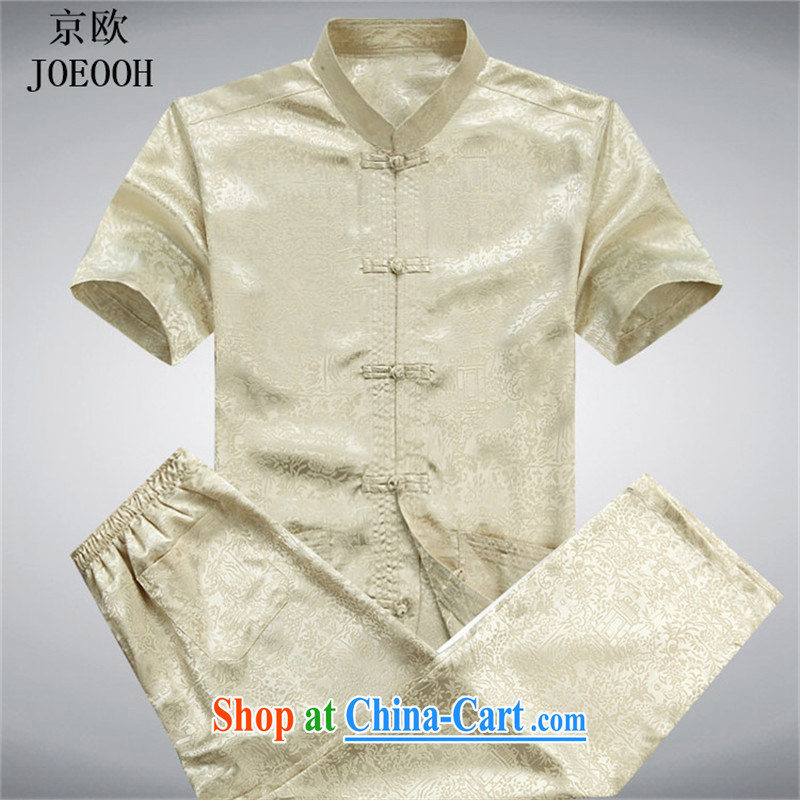 Putin's European Summer new, older persons in casual short-sleeved Chinese male-han-short-sleeved Tang load package the code gold package L