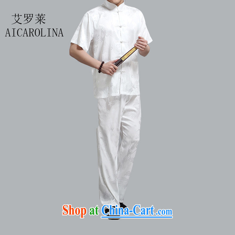 The Honorable Henry TANG, replacing men and summer short-sleeved T-shirt Chinese Han-Ethnic Wind father with Chinese Package white XL