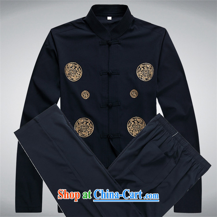 Middle-aged and older Chinese package the chestnut mouse and new China wind Tang with Chinese national clothing and Leisure Tang with dark blue Kit XXXL pictures, price, brand platters! Elections are good character, the national distribution, so why buy now enjoy more preferential! Health