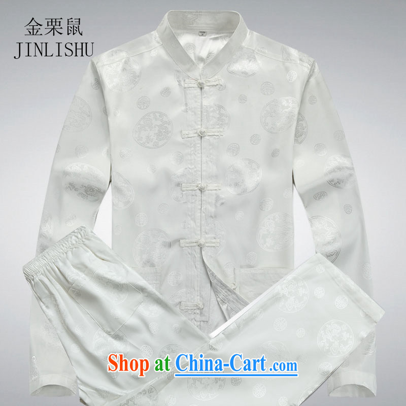The chestnut Mouse middle-aged and older men Tang load package and long-sleeved Tang replace older persons in China wind male Tang with white package XXXL