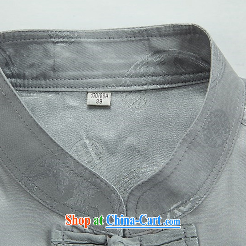 Kim Jong-il chestnut Mouse middle-aged and older men Tang package with men and long-sleeved Tang replace older persons in China and Chinese White package XXXL, the chestnut mouse (JINLISHU), shopping on the Internet