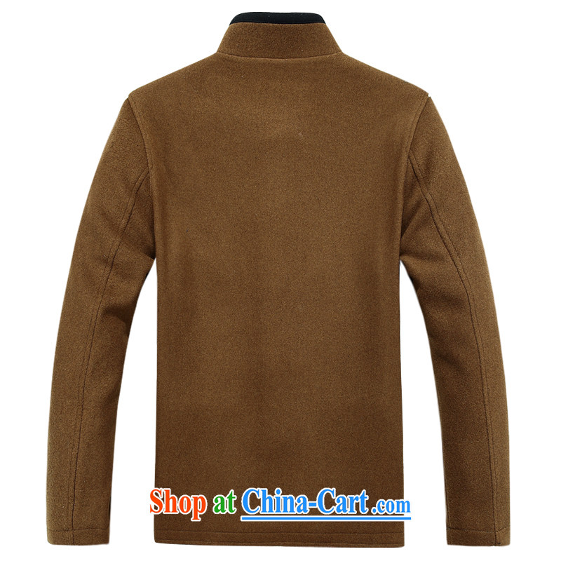 The chestnut Mouse middle-aged and older long-sleeved Chinese China wind spring men Tang in older people the Chinese Chinese jacket and yellow XXXL, the chestnut mouse (JINLISHU), shopping on the Internet