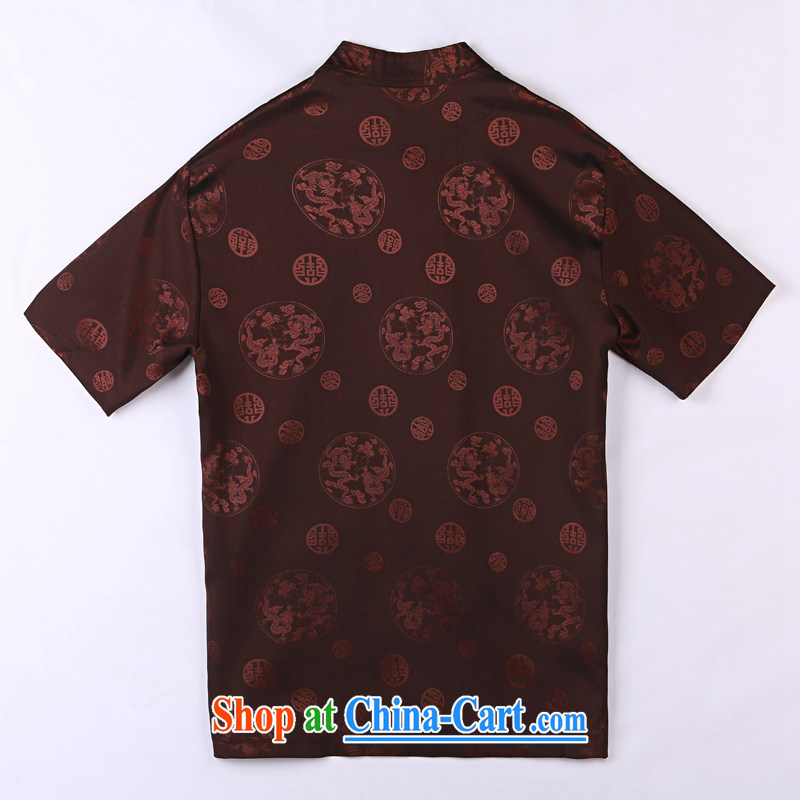 Vigers Po 2015 summer New T shirts China wind linen cool breathable sweat short-sleeved Chinese men's T-shirt, old Tang 4 mauve XXXL, federal core Chai, who, on-line shopping