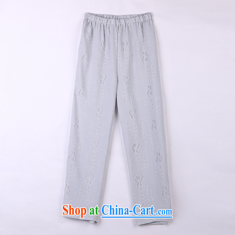 2015 spring and summer with new products, the BMW China wind Chinese pants older short pants 10 gray XXXXL