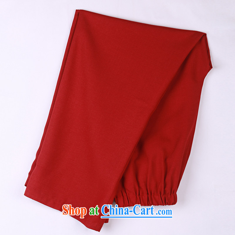 2015 spring and summer with new products, the BMW China wind Chinese pants older short pants 15 dark red XXXXL, federal core Chai, who, shopping on the Internet