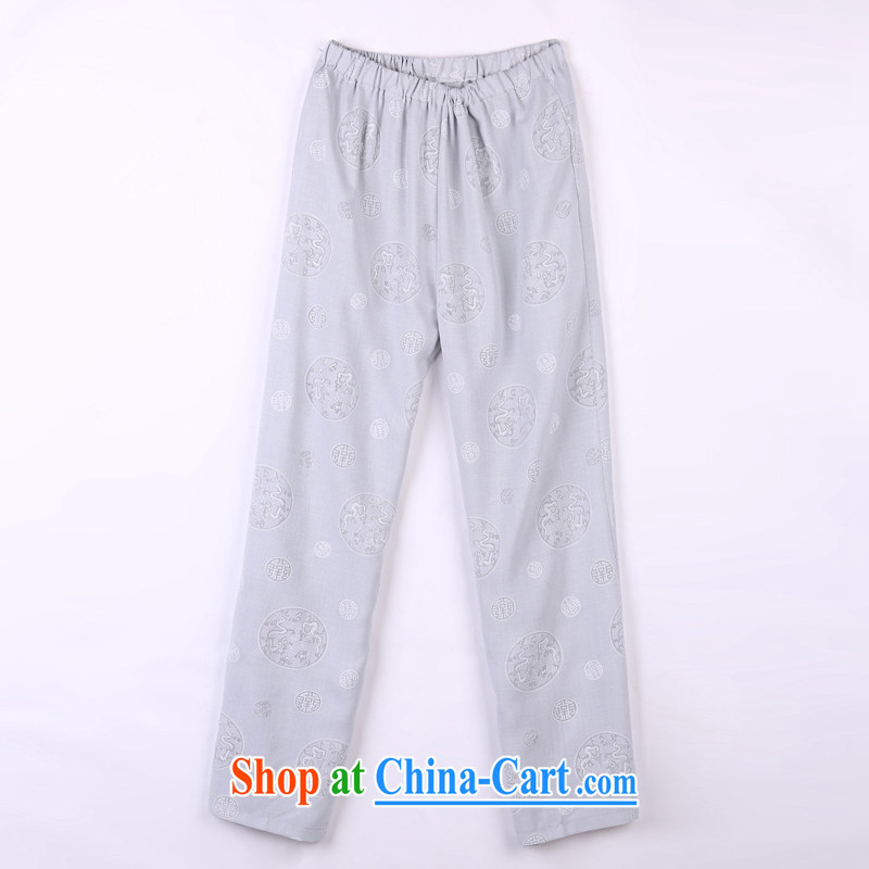2015 spring and summer with new products, the BMW China wind Chinese pants older short pants 17 gray XXXXL