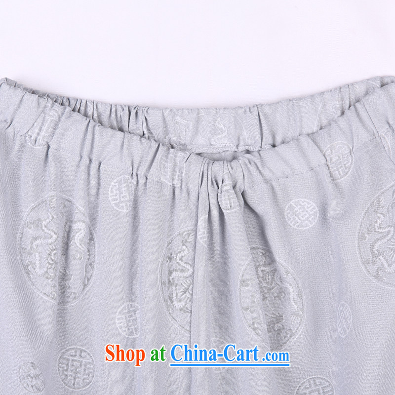 2015 spring and summer with new products, the BMW China wind Chinese pants, old Tang pants 17 gray XXXXL, federal core Chai, who, on-line shopping