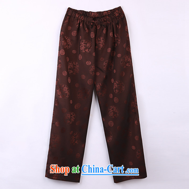 2015 spring and summer with new products, the BMW China wind Chinese pants older short pants 18 mauve XXXXL