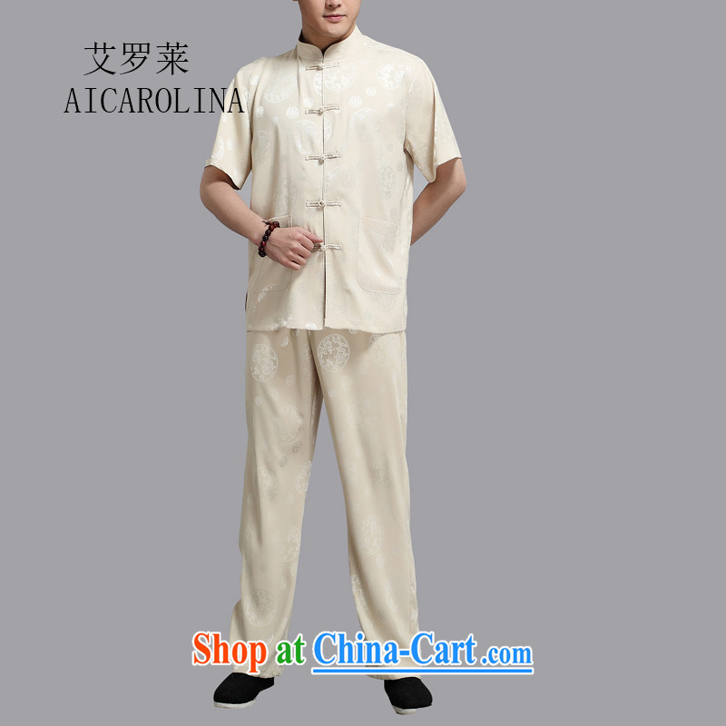 The Luo, middle-aged men with short set short-sleeve middle-aged father replacing Tang replace cynosure serving men Tang replace gold 4 XL