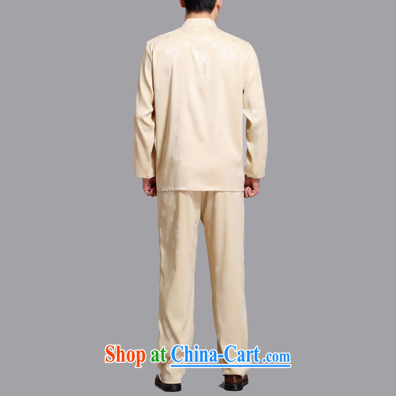 The Carolina boys 2015 new Chinese men's long-sleeved Kit Chinese male Chinese wind in older Chinese package gold 4 XL, the Tony Blair (AICAROLINA), shopping on the Internet