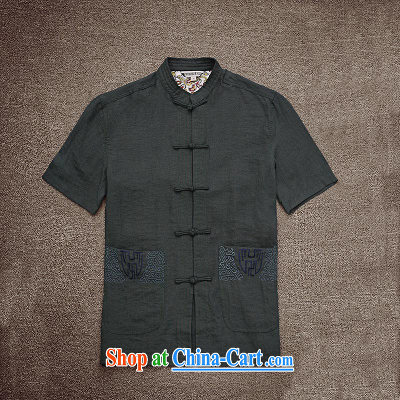 Dan Jie Shi (DANJIESHI) 2015 summer fashion new short-sleeved shirt China wind-tie the material on T-shirt casual Chinese and smock color 185/100, Dan Jie Shi (DAN JIE SHI), shopping on the Internet