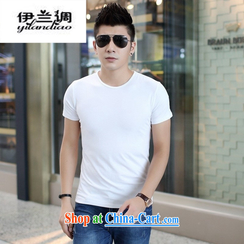 9 months female _ 2015 summer men's round-collar Solid Color short-sleeved T shirts men's leisure cultivating half sleeve shirt solid black 2 XL