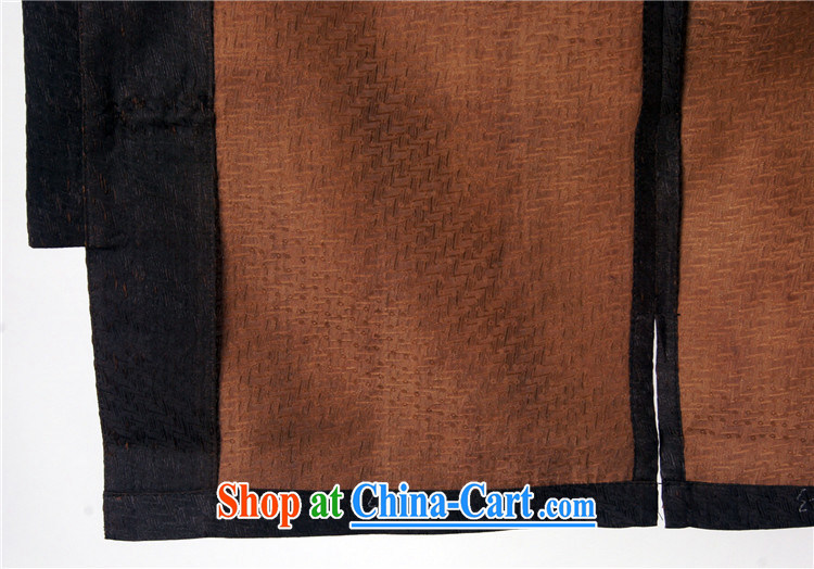 Summer Sureyou male Chinese Tang with national dress silk shirt Tang sauna silk damask, older short-sleeved fragrant cloud yarn upscale 1513 dark brown 190 pictures, price, brand platters! Elections are good character, the national distribution, so why buy now enjoy more preferential! Health